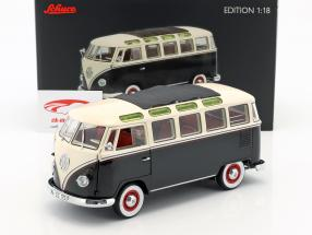 Volkswagen VW T1 Samba Bus anno di costruzione 1959-1963 nero / bianco 1:18 Schuco