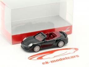 Porsche 911 Turbo Cabriolet black 1:87 Herpa