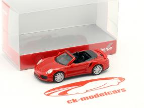 Porsche 911 Turbo Cabriolet red 1:87 Herpa