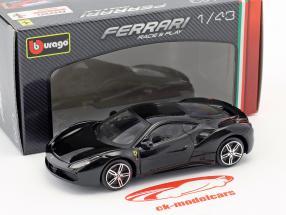 Ferrari 488 GTB schwarz 1:43 Bburago