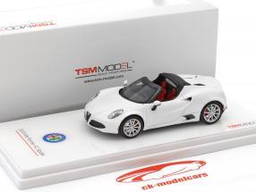 Alfa Romeo 4C Spider année de construction 2016 natte blanc 1:43 TrueScale