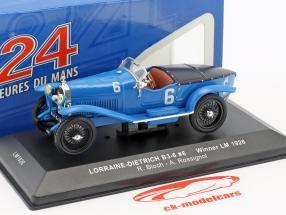 Lorraine-Dietrich B3-6 #6 gagnant 24h LeMans 1926 Bloch, Rossignol 1:43 Ixo