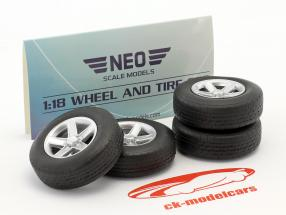 Wheel set Tuning Alloy wheels (4x) silver 1:18 Neo