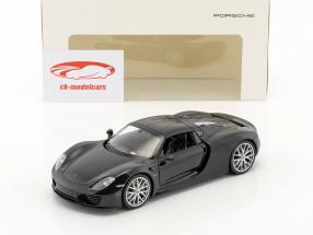 Porsche 918 Spyder basalto nero 1:24 Welly