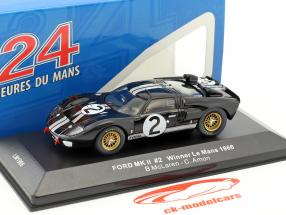 Ford MK II #2 vincitore 24h LeMans 1966 McLaren, Amon 1:43 Ixo