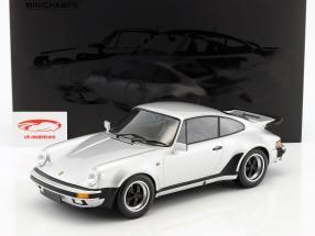 Porsche 911 (930) Turbo year 1977 silver green metallic 1:12 Minichamps