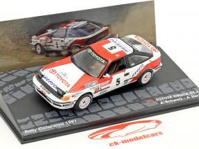 Toyota Celica GT-4 #5 Sieger Rallye Catalunya 1991 Schwarz, Hertz 1:43 Altaya