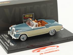 Mercedes-Benz 220 SE Cabriolet year 1959 blue / beige 1:43 Vitesse
