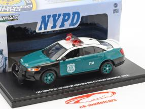 Ford Police Interceptor Sedan NYPD Baujahr 2014 grün / weiß 1:43 Greenlight