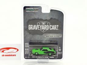 Plymouth Hemi Cuda Baujahr 1971 TV-Show Graveyard Carz grün / schwarz 1:64 Greenlight