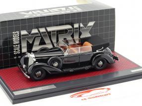 Mercedes-Benz 770 Cabriolet D open year 1938 black 1:43 Matrix