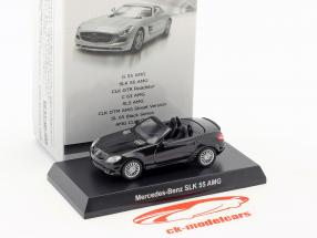 Mercedes-Benz SLK 55 AMG cabriolet nero 1:64 Kyosho