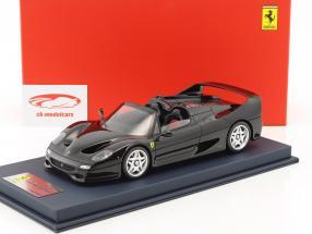 Ferrari F50 Spider schwarz mit Vitrine 1:18 LookSmart