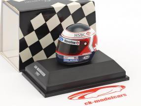 Jan Magnussen Stewart SF01 formula 1 1997 helmet 1:8 Minichamps