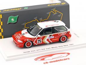 Honda Civic EF3 #25 2 ° Grp3 Macau Guia Race 1989 Yasuo Muramatsu 1:43 Spark