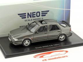 Saab 9000 CS year 1991 gray metallic 1:43 Neo
