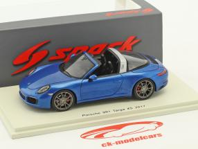 Porsche 911 (991 II) Targa 4S Construction year 2017 blue 1:43 Spark