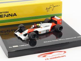 Ayrton Senna McLaren MP4/4 #12 campione del mondo Giappone GP F1 1988 1:43 Minichamps