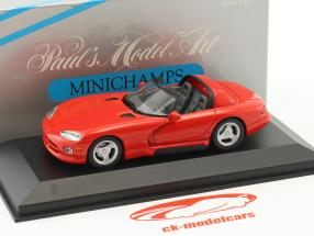 Dodge Viper Cabriolet year 1993 red 1:43 Minichamps