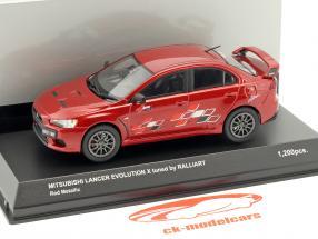 Mitsubishi Lancer Evo X tuned by Ralliart red metallic 1:43 Kyosho