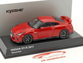 Nissan GT-R (R35) année de construction 2017 rouge 1:43 Kyosho