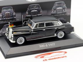 Mercedes-Benz 300 (W189) Konrad Adenauer anno di costruzione 1957-1962 nero 1:43 Atlas
