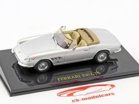 Ferrari 330 GTS argent avec vitrine 1:43 Altaya