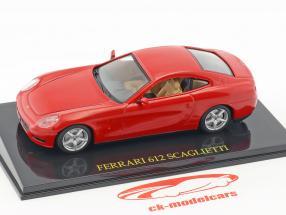 Ferrari 612 Scaglietti red with showcase 1:43 Altaya