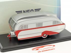 Aero Flite Falcon Travel Trailer year 1948 silver 1:43 Neo