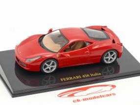 Ferrari 458 Italia red with showcase 1:43 Altaya