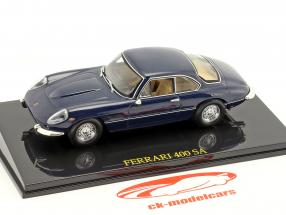 Ferrari 400 SA dark blue with showcase 1:43 Altaya