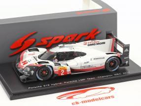 Porsche 919 Hybrid #2 WEC Champion 2017 Bamber, Bernhard, Hartley 1:43 Spark