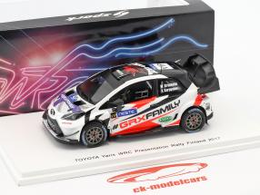 Toyota Yaris WRC Presentation Car Rallye Finlandia 2017 Grönholm, Karppanen 1:43 Spark