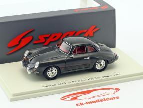 Porsche 356B t5 Karmann Hardtop coupe year 1961 black 1:43 Spark