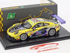 Porsche 911 GT3 R  #77 9 ° FIA GT Cup Macau 2017 Hiroki Yoshimoto 1:43 Spark