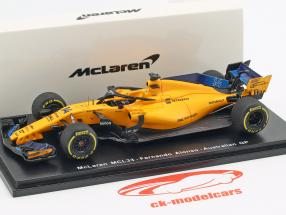 Fernando Alonso McLaren MCL33 #14 5 ° australiano GP formula 1 2018 1:43 Spark