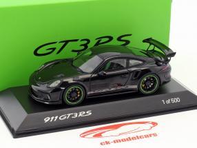 Porsche 911 (991) GT3 RS Weissach Package Baujahr 2018 schwarz 1:43 Spark