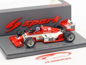 Jonathan Palmer Zakspeed 841 #30 Monaco GP Formula 1 1985 1:43 Spark