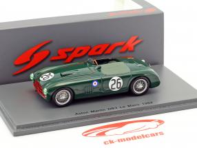 Aston Martin DB3 #26 24h LeMans 1952 Poore, Griffith 1:43 Spark