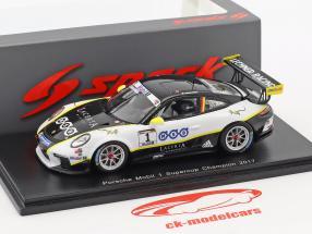 Porsche 911 GT3 Cup #1 champion Porsche Mobil 1 Supercup 2017 Michael Ammermüller 1:43 Spark