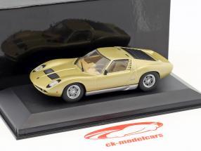 Lamborghini Miura Baujahr 1966-1971 gold metallic 1:43 Minichamps