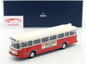 Saviem S105M Bus Baujahr 1969 rot / weiß 1:43 Norev