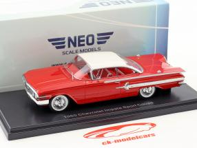 Chevrolet Impala Sport coupe year 1960 red / white 1:43 Neo