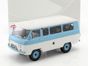 UAZ 452V (2206) minibus bleu clair / blanc 1:18 Premium ClassiXXs