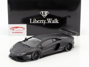 Lamborghini Aventador Liberty Walk LB-Work year 2015 mat black 1:18 AUTOart