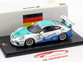 Porsche 911 GT3 Cup #1 campione Porsche Carrera Cup Germania 2017 Dennis Olsen 1:43 Spark