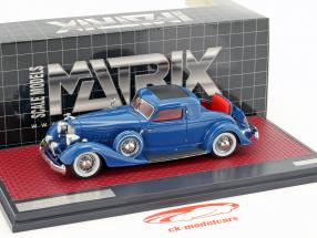 Packard 1108 Twelve Stationary Coupe Dietrich year 1934 blue 1:43 Matrix