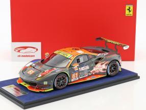 Ferrari 488 GTE #61 24h LeMans 2017 Mok, Sawa, Griffin 1:18 LookSmart