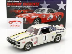 Chevrolet Camaro #1 year 1967 Joie Chitwood Chargin Cherokee white 1:18 GMP
