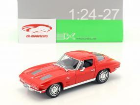 Chevrolet Corvette Baujahr 1963 rot 1:24 Welly